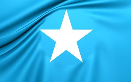 somali: Flag of Somalia. Close Up.