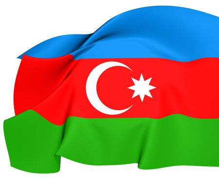 azerbaijanian: Flag of Azerbaijan  Close Up