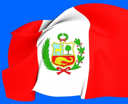 Bandera de Per� Close Up photo