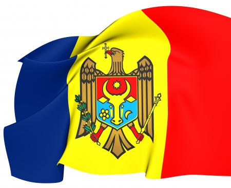 Flag of Moldova. Close Up. photo