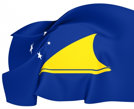 tokelau: Flag of Tokelau. Close Up.