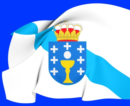 Bandera de Galicia, Espa�a Close Up photo
