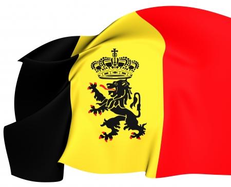 Government Ensign of Belgium  Close Up