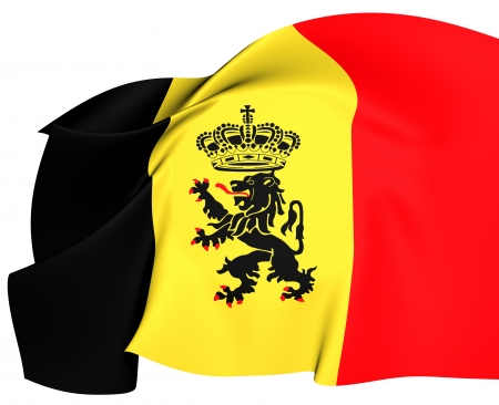 ensign: Government Ensign of Belgium  Close Up