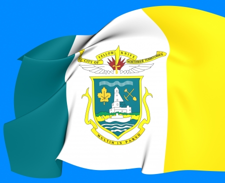 Flag of Yellowknife, Canada  Close Up  photo