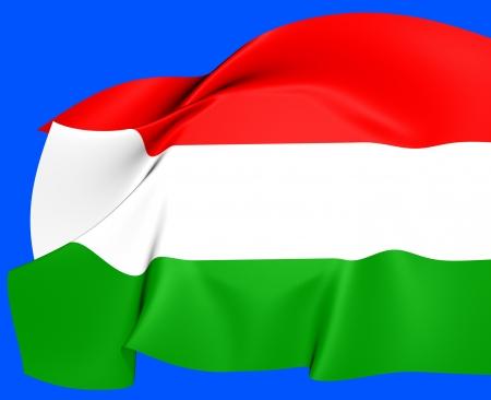 europe closeup: Flag of Hungary  Close Up     Stock Photo