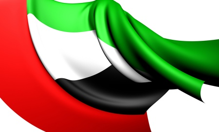 Flag of United Arab Emirates  Close Up  photo