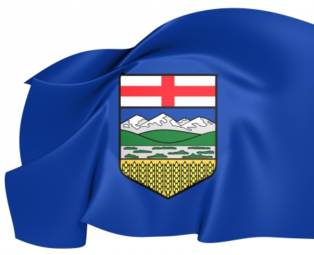 Flag of Alberta, Canada. Close Up.