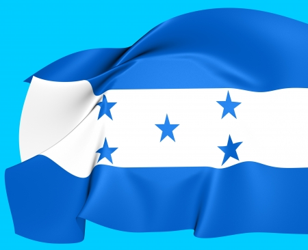 Bandera de Honduras. Cerca. photo