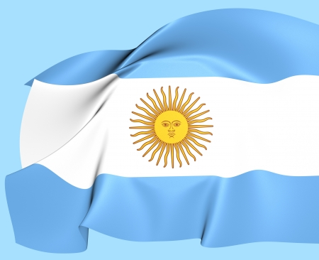 argentinean: Flag of Argentina  Close Up