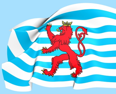 3d lion: Civil Ensign of Luxembourg  Close Up