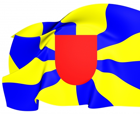 flanders: Flag of West Flanders. Close Up. Stock Photo