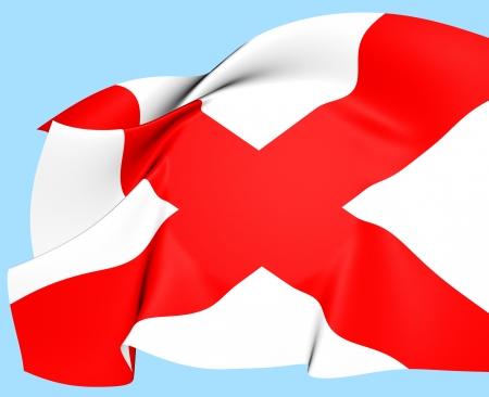 Flag of Alabama, USA  Close Up    photo