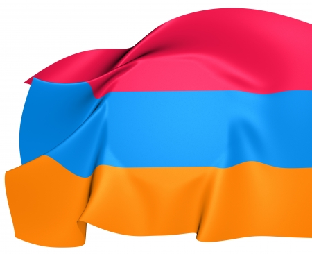 Flag of Armenia  Close Up  photo