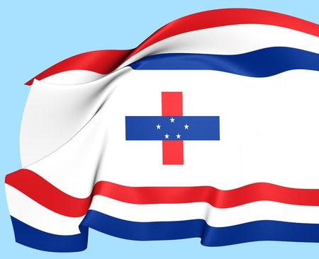 governor: Governor of the Netherlands Antilles Flag. Close Up.