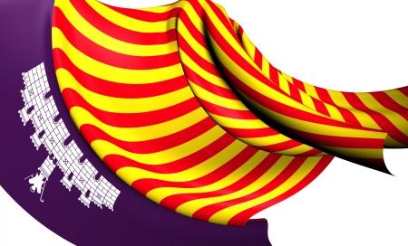 majorca: Flag of Majorca. Close Up.