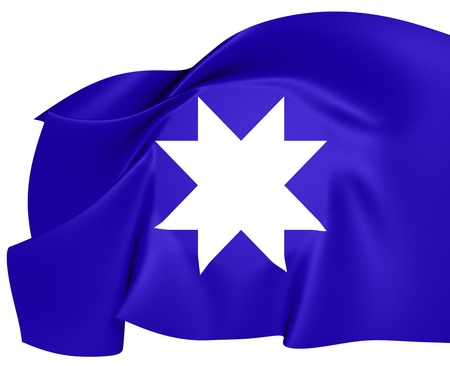 chilean: Ancient Mapuche Flag  Close Up    Stock Photo