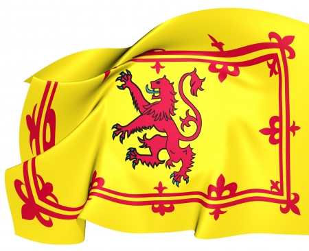 scots: Royal Standard of Scotland  Close Up