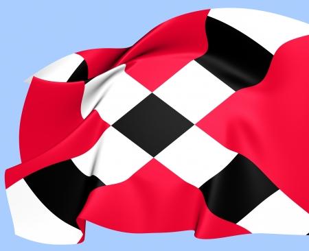 noord brabant: Flag of Veghel, Netherlands  Close Up  Stock Photo