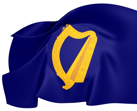 President of Ireland Flag. Close Up.    photo