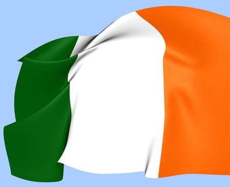 Flag of Ireland. Close Up.   photo