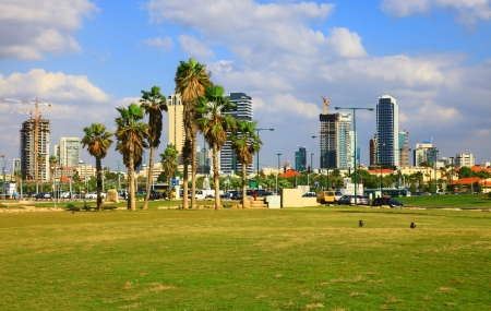 View of the Tel Aviv, Israel  Day