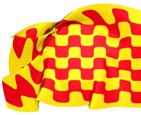 Flag of Tarragona City, Spain  Close Up  photo