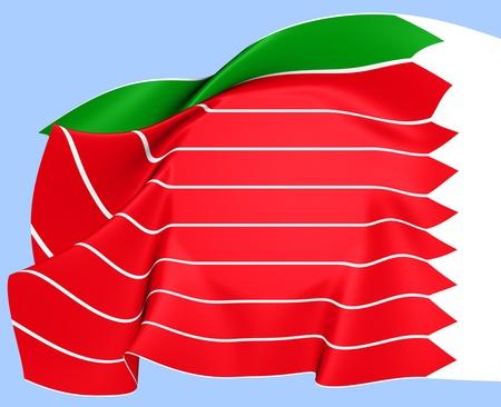 leon caricatura: Bandera de la ciudad de Zamora, Espa�a. Cerca.