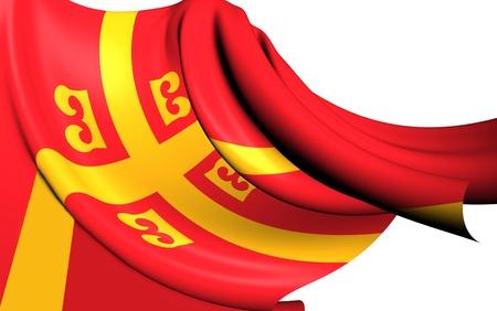 byzantine: Byzantine Empire Flag. Close Up.