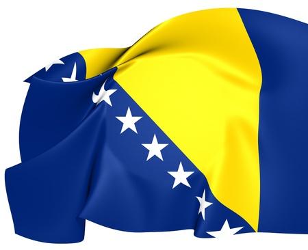i nobody: Flag of Bosnia and Herzegovina. Close Up.