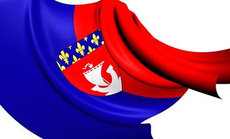blason: Flag of Paris, France. Close Up.
