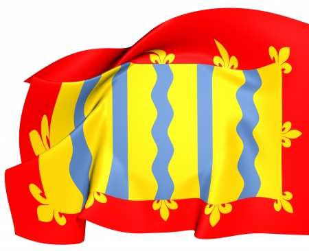 cambridgeshire: Flag of Cambridgeshire. Close Up.