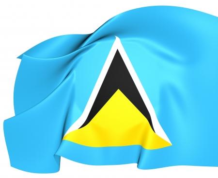 st lucia: Flag of Saint Lucia. Close Up. Stock Photo