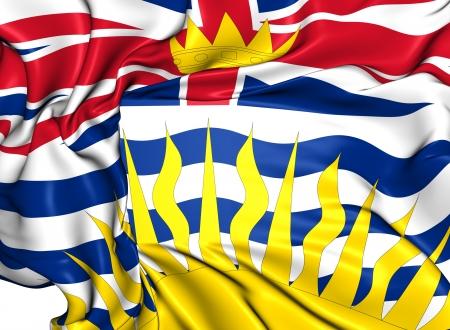 british columbia: Flag of British Columbia, Canada. Close Up.