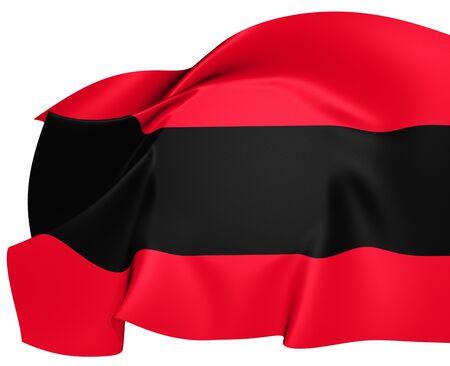 ensign: Civil Ensign of Albania. Close Up.