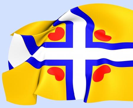 All Frisian Flag. Close Up.    Stock Photo