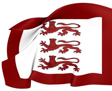 cymru: Llywelyn ap Gruffydd Flag. Close Up.