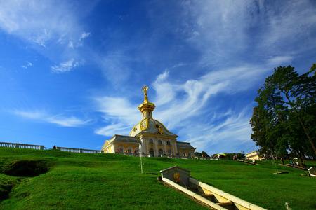 peterhof: View of Peterhof, Russia.