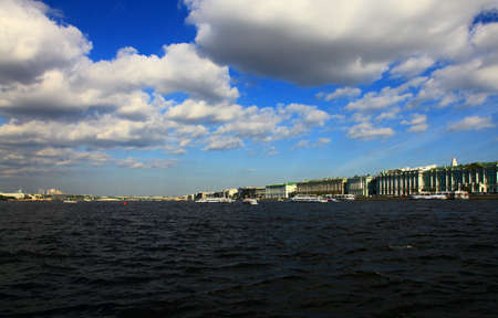 neva: Neva River, Saint Petersburg, Russia.