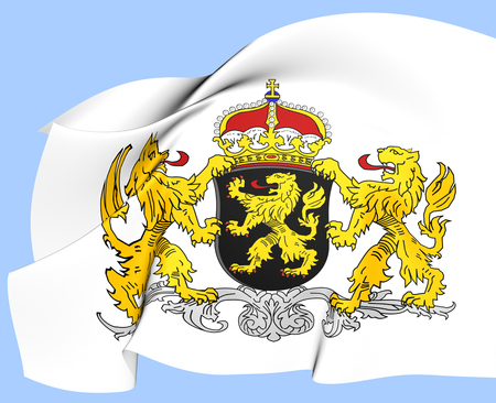 north brabant: North Brabant Coat of Arms, Netherlands  Close Up  Stock Photo