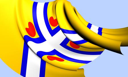 all european flags: All Frisian Flag. Close Up.    Stock Photo