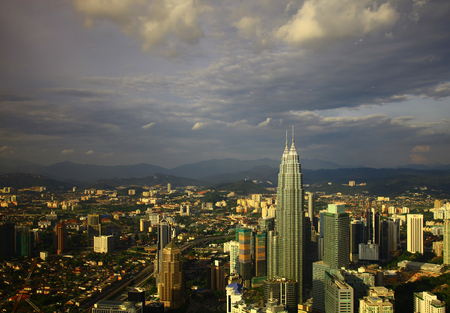 View of the Kuala Lumpur. Twilight.