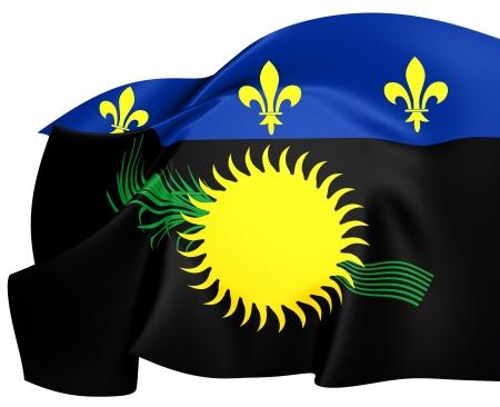 guadeloupe: Flag of Guadeloupe. Close Up.