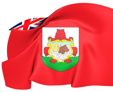 Flag of Bermuda. Close Up.