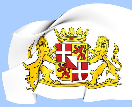utrecht: Utrecht Province Coat of Arms, Netherlands. Close Up. Stock Photo