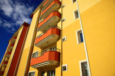Part of the Apartment Building. Stock Photo