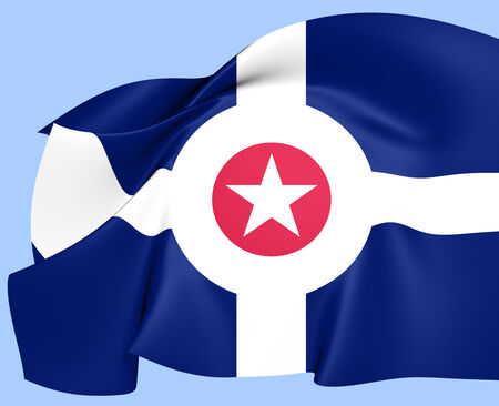 indianapolis: Flag of Indianapolis, USA.