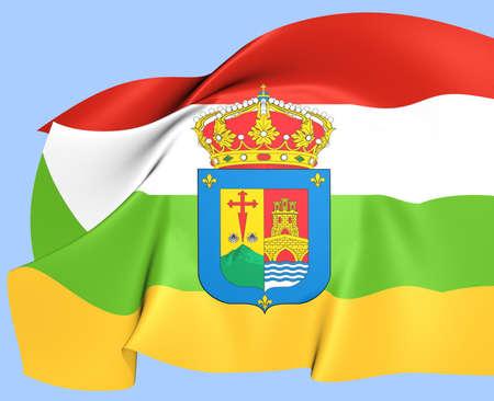 La Rioja Flag, Spain. Close Up. Stock Photo - 24158584