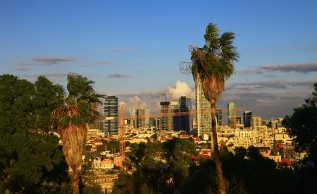 View of the Tel Aviv, Israel. Twilight. photo