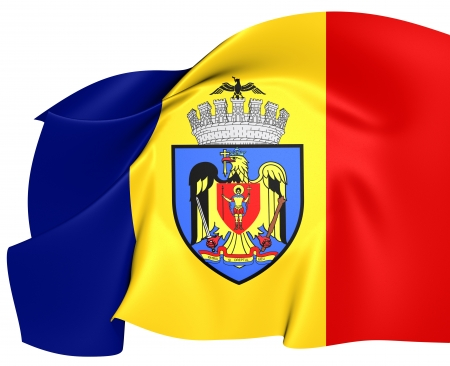 Flag of Bucharest, Romania.